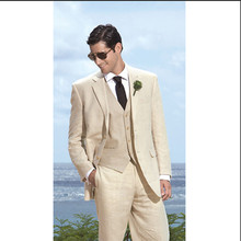 groom tuxedo best man suit wedding groom wear formal tuxedo beige custom made suit 2016