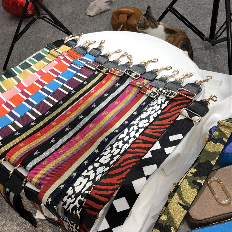 Nylon Women Bags Strap Wide Handbag Belt Shoulder Bag Accessory/part Adjustable Belts Strap Bag Accessories Long Bands Handle