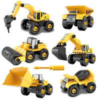 Veículo de Engenharia da cidade DIY Blocos Technic Montagem Porca de Parafuso de Cimento caminhão Escavação veículo Modelo Brinquedos Para Crianças