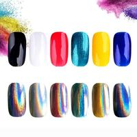 1g Box Nail Rainbow Laser Silver Holographic Shiny Powder Magic Mirror Powder Glitters Nail Art Sequins