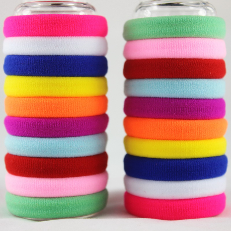 isnice 100pcs/lot Girl Candy Color Rubber band Fashion high elastic hair rope ties headband gum girl Hair accessory hot 12pcs pack girls fashion candy color elastic headband stretchy hair rope rubber bands