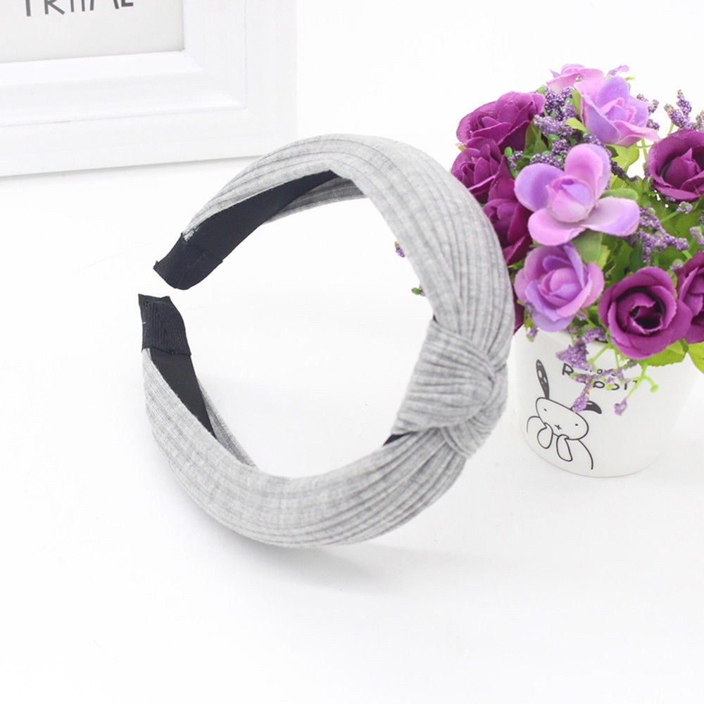 Women's Hair Accessories Knot Cross Tie Solid 1 Pc Fashion Hair Band Hairband Knitted Rib Girls Bow Hoop Hair Accessories Velvet Twist Headband Vivid And Great In Style