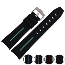 Rubber Strap Waterproof Diving Curved End Silicone Watch Band for Omega Seamaster Planet Ocean Speedmaster De Ville 20mm Buckle все цены