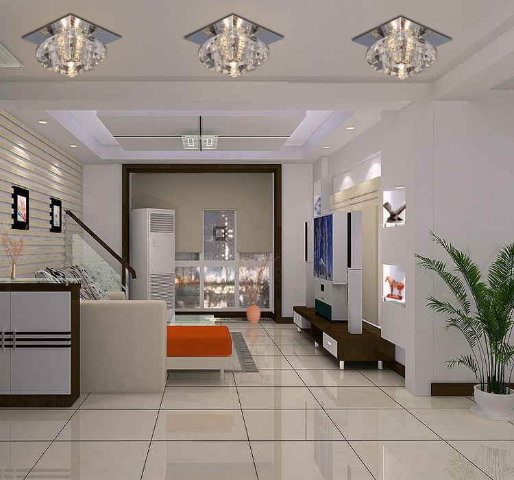 2015 New Led K9 Crystal Light Fittings Living Room White Warm Porch Lamp Cheap Modern Recessed Lighting For Home Deco In Ceiling Lights From