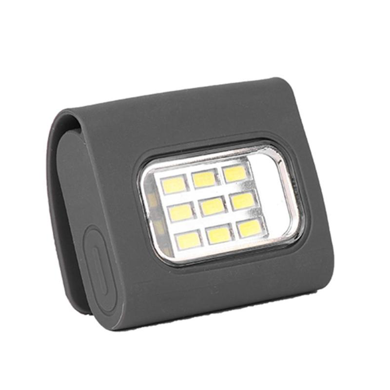 USB Rechargeable Mini 9 x COB LED Hat Light Magnet Buckle Night Lamp ABS Running Camping Portable White Light Outdoor Light led lamp usb rechargeable built in battery cob xpe led light with magnet portable flashlight outdoor camping working torch lamps