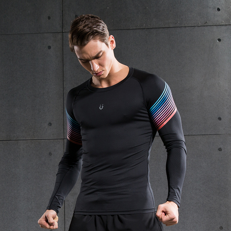 e43da1dda942 Men Compression Hemd Fitness Jogger Übung Kleidung Mode Casual Langarm T  Shirt in Men Compression Hemd Fitness Jogger Übung Kleidung Mode Casual  Langarm ...