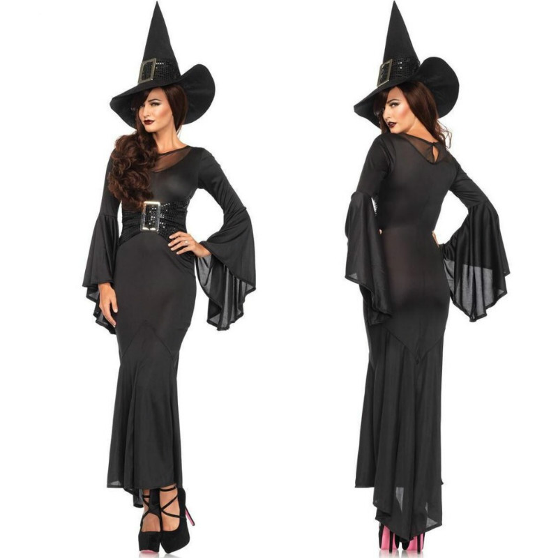 2018 New <font><b>Sexy</b></font> Female <font><b>Halloween</b></font> Witch Cosplay Costumes Dress Stage Movie Role Play <font><b>Disfraces</b></font> Europe Gentlewoman image