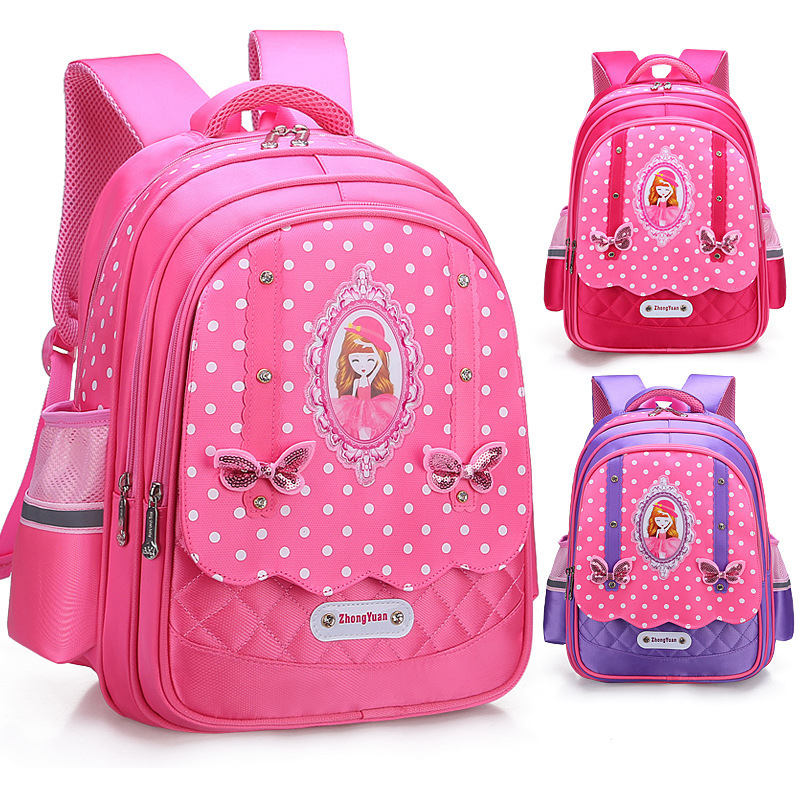 2019 Children School Bags Girls Backpack Kids Dot Printing Backpacks Schoolbag Waterproof Primary School Backpacks Mochilas