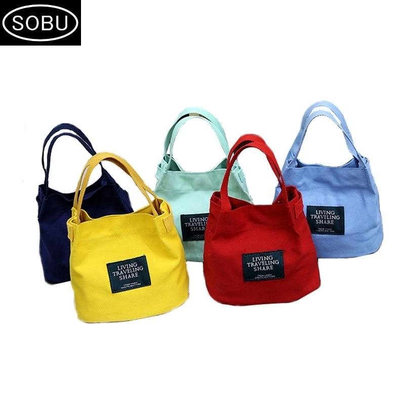 Canvas Handbag Mini Single Shoulder Bag Crossbody Messenger Bags Bucket Bag Korean Bag H052