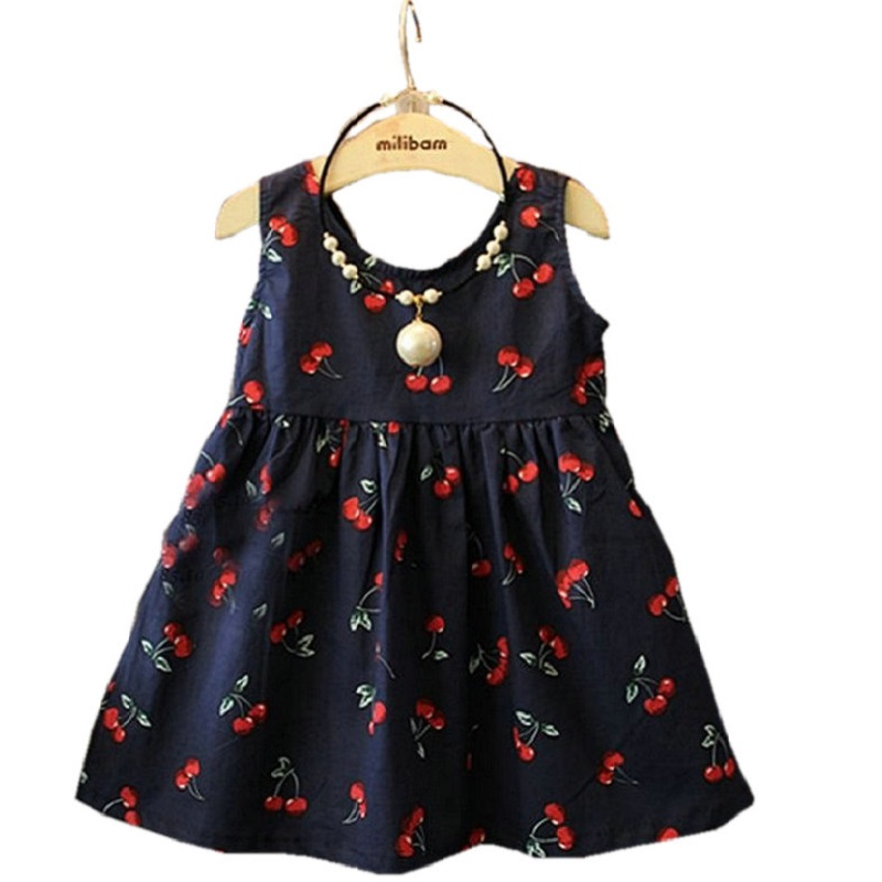 2016 New Girls Dress Cotton Summer Style Sleeveless Children Dress Party Dresses For 2-7 Years Kids Toddler Vestidos KF509 2016 new girls dress cotton summer style sleeveless children dress party dresses for 2 7 years kids toddler vestidos kf509