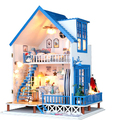 New arrival DIY Model Romantic Aegean sea hut/ Assemble Villa Doll Home/  Wooden Miniature DIY Dollhouse girlfriend gift