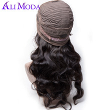 Ali Moda Lace Front Human Hair Wigs For Black Women Brazilian Body Wave Remy Hair Pre Plucked With Baby Hair Bleached Knots
