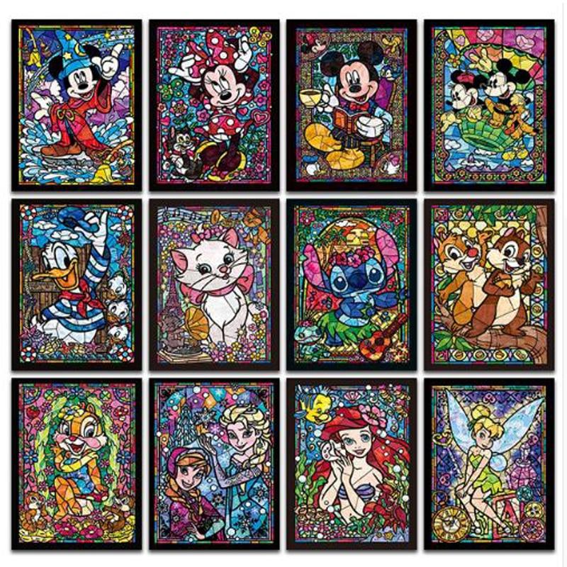DIY diamond painting cartoon character cross stitch mosaic home decoration wall painting