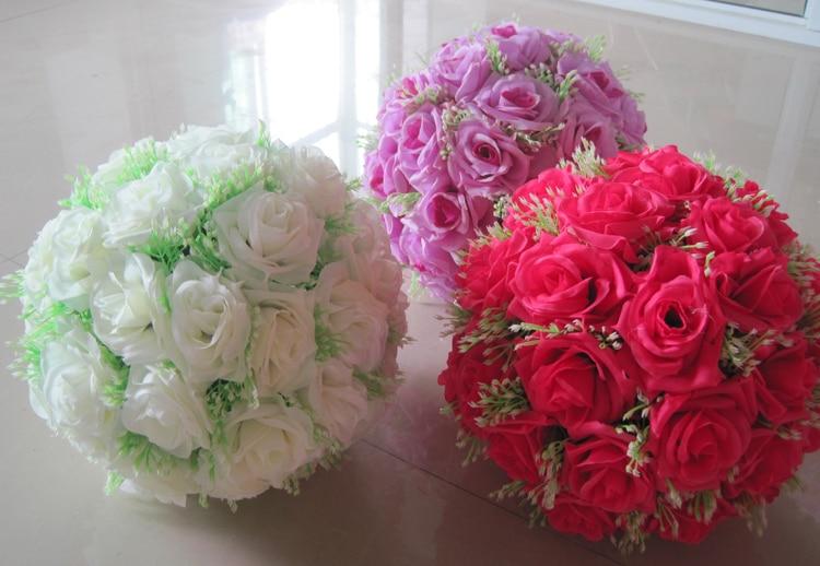 8 tuuman (20 cm) häät suudelleva pallo Pomander keinotekoinen kukka - Tavarat lomien ja puolueiden - Valokuva 4