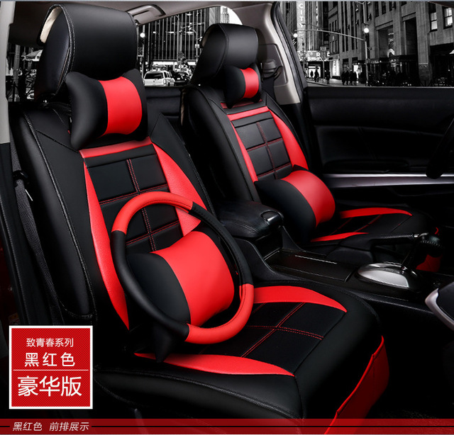 car seat covers 5d leather cushion set for Ferrari GMC Savana JAGUAR