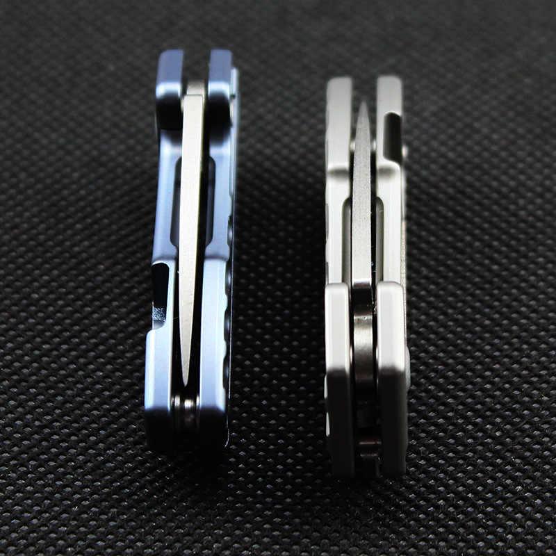 Mini EDC карманный нож D2 или дамасский нож TC4 Титан сплав ручка складной нож мини-брелок на цепочке нож для повседневного использования, универсальный инструмент
