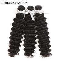 Rebecca Peruanische Tiefe Welle Bundles Deal 1/3/4 Bundles 8-30 Inch 100% Remy Menschliches Haar extensions Peruanische Haar Bundles