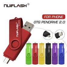 Nuiflash clé USB OTG 2 en 1, 128 go, 64 go, 32 go, 16 go, 8 go, stylo de stockage externe pour smartphone, clé USB Android
