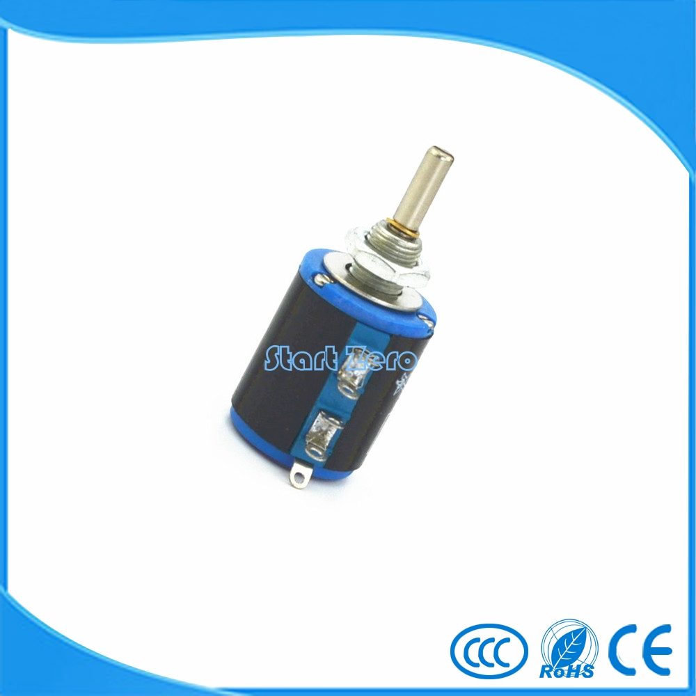 1PCS WXD3-12 Shaft Dia 100R~47K Ohm Rotary side Multiturn Potentiometer wire-wound potentiometer WXD3