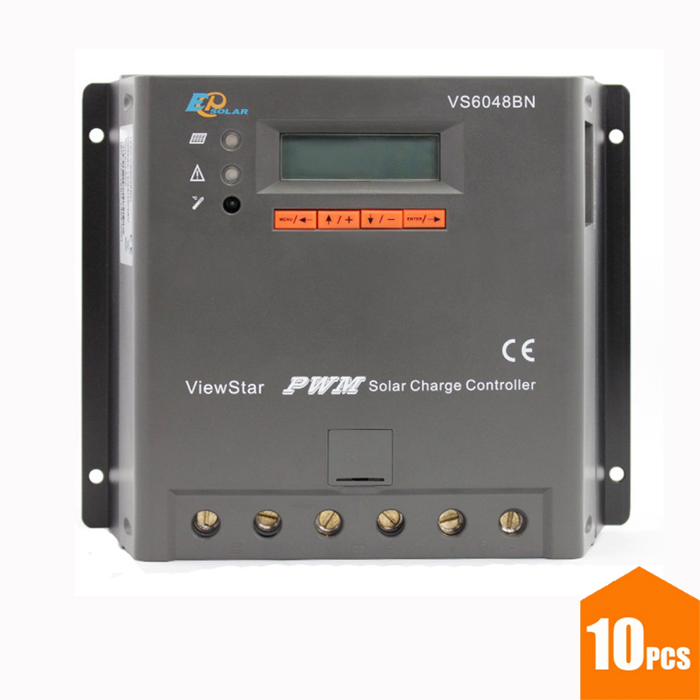 EPSOLAR ViewStar VS6048BN 60A 12V 24V 36V 48V PWM Solar Charge Controller LCD Display vs6048bn 60a 24 48v auto pwm controller network access computer control can connect with mt50 for communication