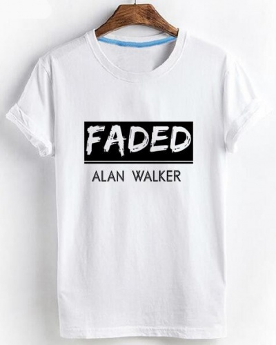 572ee7898 Summer Alan Walker Themed T Shirt For Teens xxxl Faded Tshirts Short  Sleeved Tee
