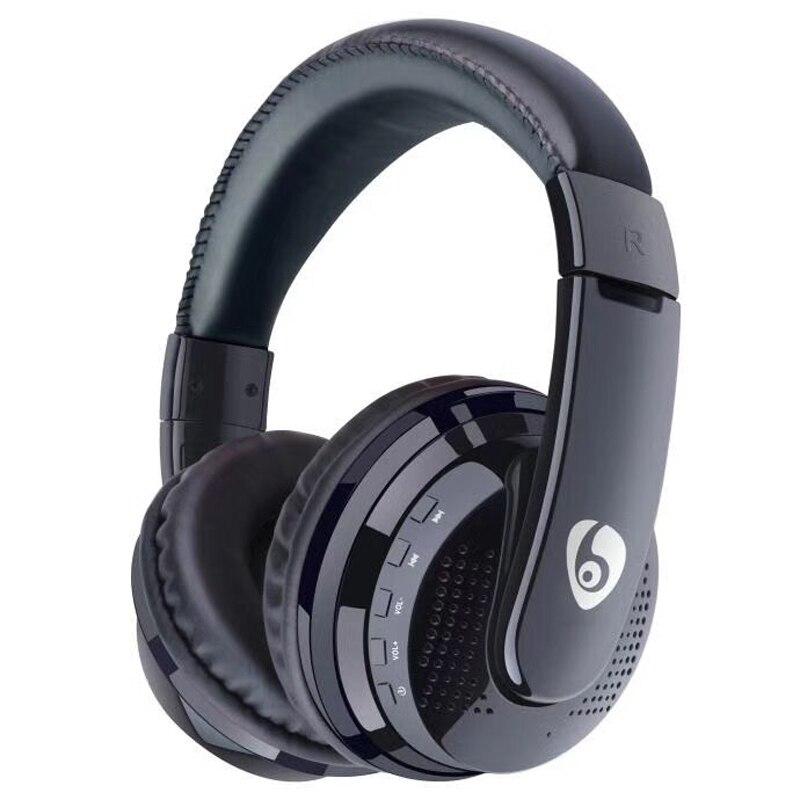 NVAHVA Bass Bluetooth auricular, en-oído Auriculares inalámbricos Bluetooth Auriculares con 3,5mm AUX TF tarjeta música Radio FM