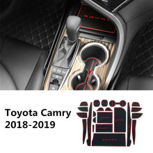 For Toyota Camry 70 XV70 2018 2019 2020 Rubber Car Door Groove Mats Gate slot pad Auto Non-slip Cup Holder Pad Trims Accessories