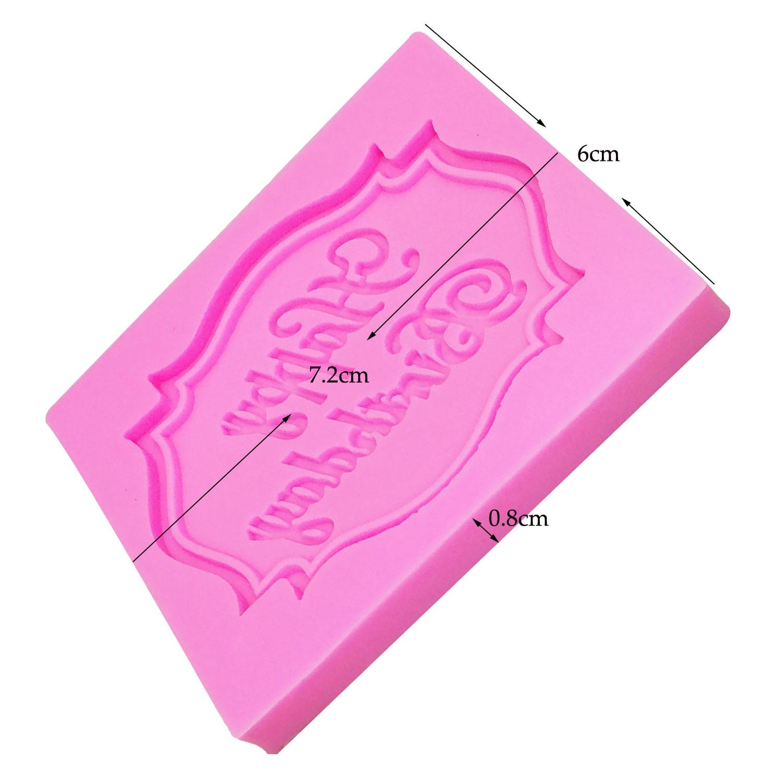 M0070 Feliz Cumpleaños forma de Carta de silicona molde fondant de - Cocina, comedor y bar - foto 5