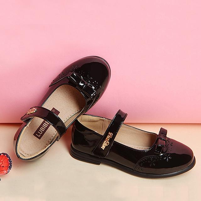 Muchachas de los niños zapatos de la princesa niños de cuero zapatos de niña niñas vestido de los estudiantes modelos zapatos bowknot zapatos de la princesa