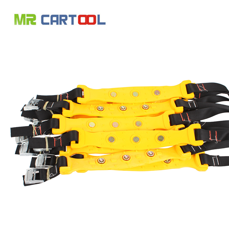 10pcs/lot 37x4.7cm Yellow Car Tire Snow Chains Beef Tendon VAN Wheel Tyre Anti-skid TPU Chains DHL Fast Shipping