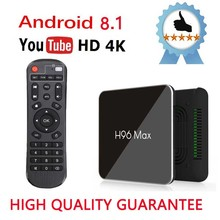 лучшая цена Best H96 MAX X2 Android 8.1 Smart TV Box S905X2 H.265 4K HDR Media Player 2.4G&5.8G Dual Wifi set top box support Youtube