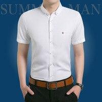 Oxford Camicia Marchio di Abbigliamento Uomo Slim Fit affari camicie maschili Facile Abbinamento Morbido Masculina Per Extrasize