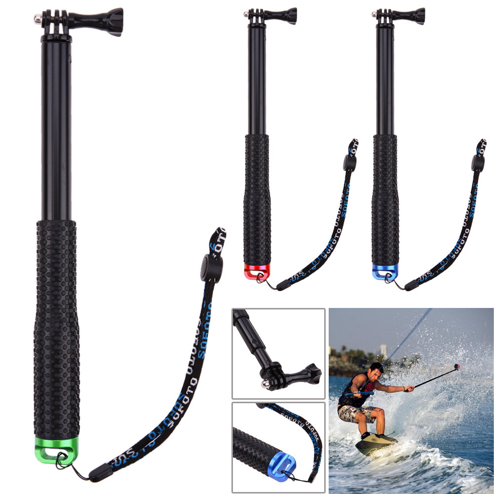 Portable Non-slipping 36inch for SP POV Pole Extendable Selfie Stick Tripod Handheld Monopod for Gopro Sports Camera Waterproof
