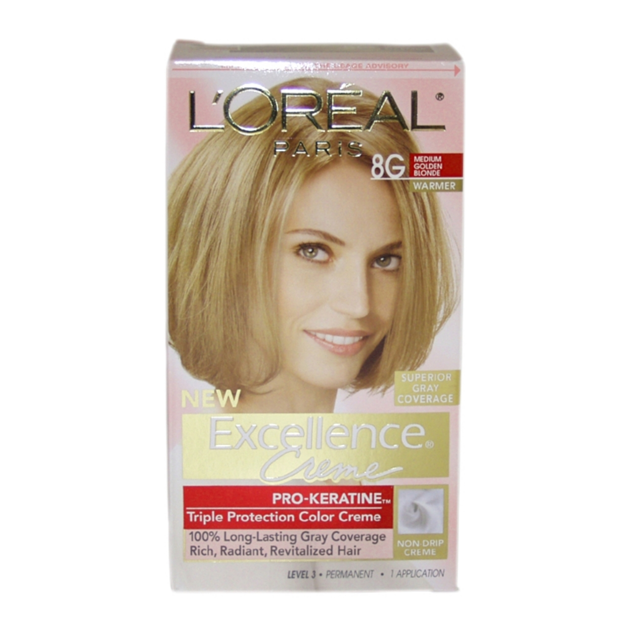 Excellence Creme Pro Keratine 8g Medium Golden Blonde Warmer By Loreal Paris For Unisex 1 Application Hair Color In Hair Color From Beauty Health