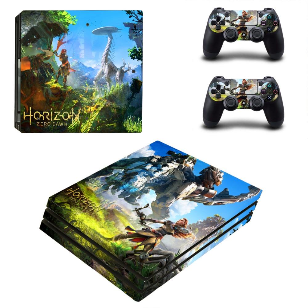 Gioco Horizon Zero Alba PS4 Pro Autoadesivo Della Pelle Per Sony PlayStation 4 Console e 2 Controller PS4 Pro Autoadesivi Della Pelle Decal
