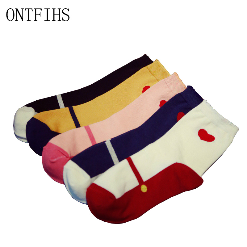 5 Pairs lot Cotton Happy Socks Women Breathable Casual Patchwork Unisex Popsocket Colorful Crew Sock for