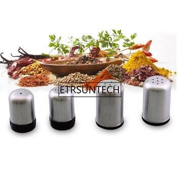 100pcs Stainless Steel Magnetic Seasoning Pot Salt shaker Salt Pepper Set spice Cruet Condiment Box Cooking Bottle Kitchen Tools