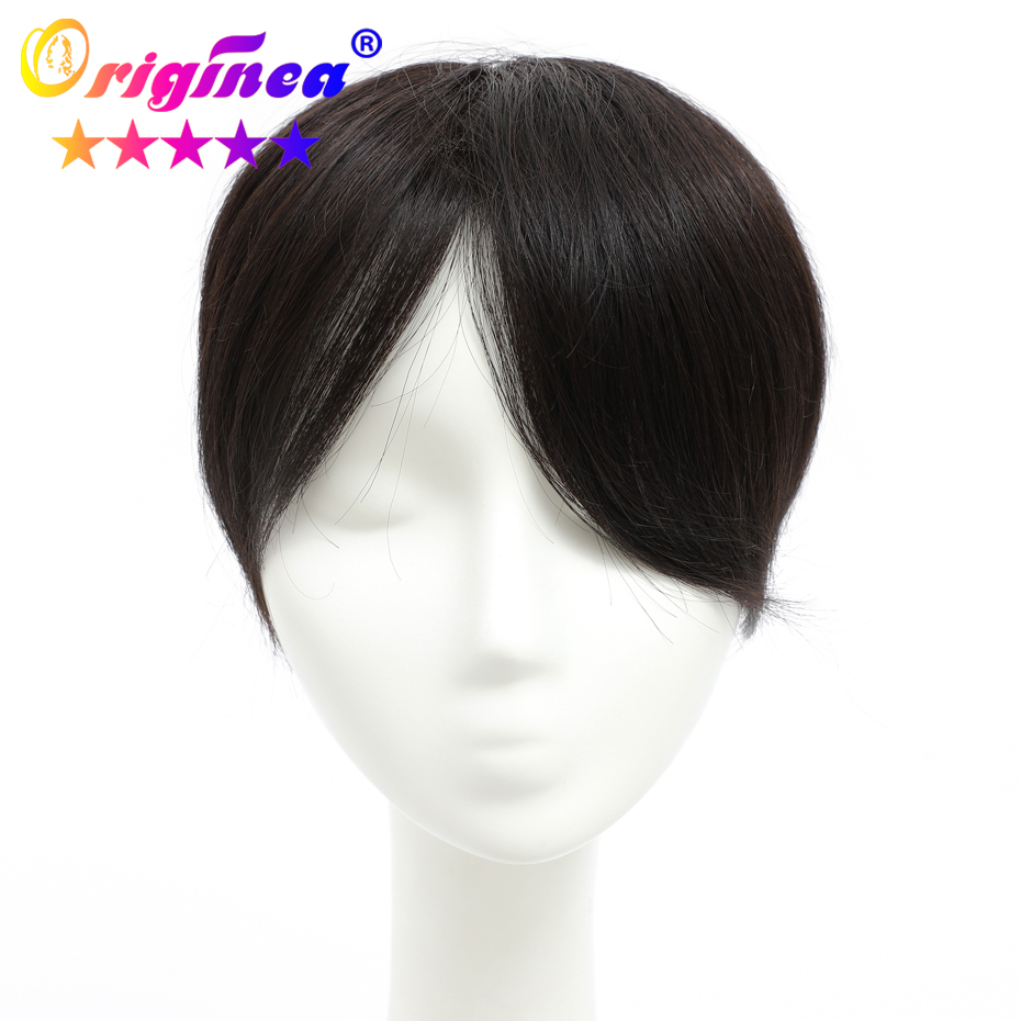 Originea Men Hair Toupee 6 Inches Hair Pieces 100% Remy Human Hair Toupee Replacement System Toupee For Men Net Base Size 16*18(China)