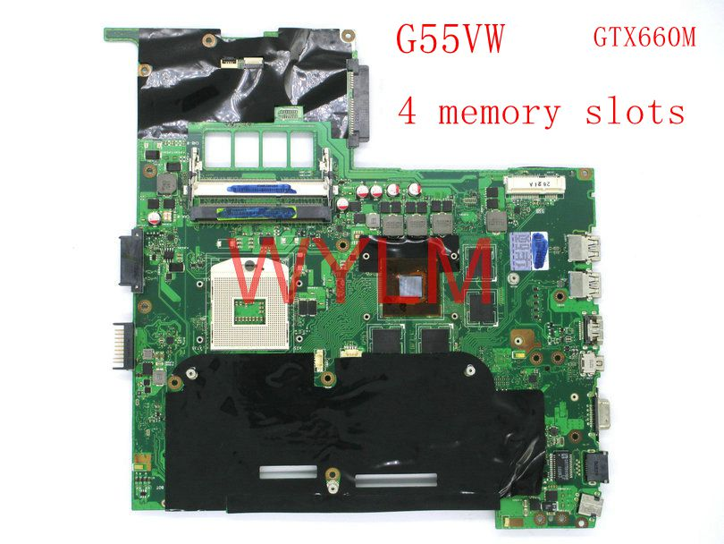 free shipping G55VW GTX660M 2GB video card N13P-GE-A2 mainboard For ASUS G55V G55VW Laptop motherboard MAIN BOARD 100% Tested free shipping laptop motherboard for x75vc motherboard x75vb main board 60nb0240 mb1020 n14m ge s a2