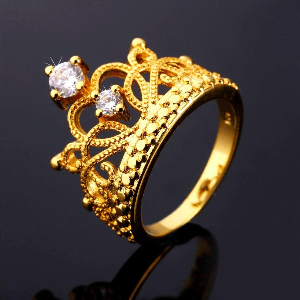 Gold Crown Ring Women