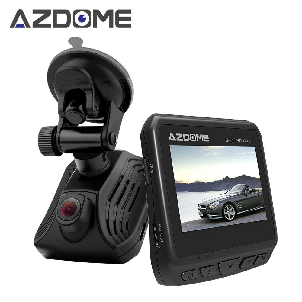 Azdome DAB211 Ambarella A12 Voiture Dash Cam 2 K 1440 P Super nuit Vision Tableau de Bord Caméra Enregistreur DVR Avec GPS ADAS Boucle enregistrement