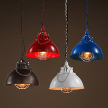 цены Loft Industrial Style Pendant Lighting Metal Pan Lid Edison Light Fixtures Clothing Store Vintage Lamp Bar Art Deco Lighting