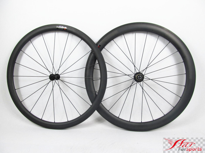 Farsports FSC3850-CM-25 ED HUB Mixed road carbon wheels clincher 38mm front 50mm rear, pro Chinese high end bike wheels carbon