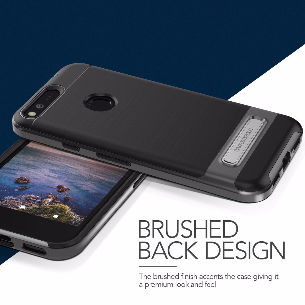 For Google Pixel Case Pastic Silicone Hybrid Shockproof Rugged Armor Kickstand Verus Cover For Pixel XL By VRS Design