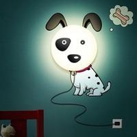 DIY 220v novelty wallpaper night light for children bedroom romantic led pig sunflower dog lampe de chevet enfant