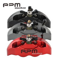 Motorcycle Hole Pitch 82mm 4 Piston Front Rear RPM MOTOR Brake Calipers Pump For Yamaha Aerox