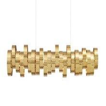 Modern stainless steel metal pendant lights living room hotel hall bedroom decor hanging bar Cafe suspension luminaire