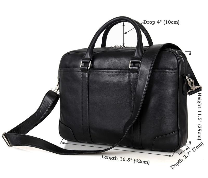 HTB1 TmisL5TBuNjSspmq6yDRVXaS Nesitu Black Brown Genuine Leather Office Men Briefcase Messenger Bags Real Skin Business Travel Bag 14'' Laptop Portfolio M7349