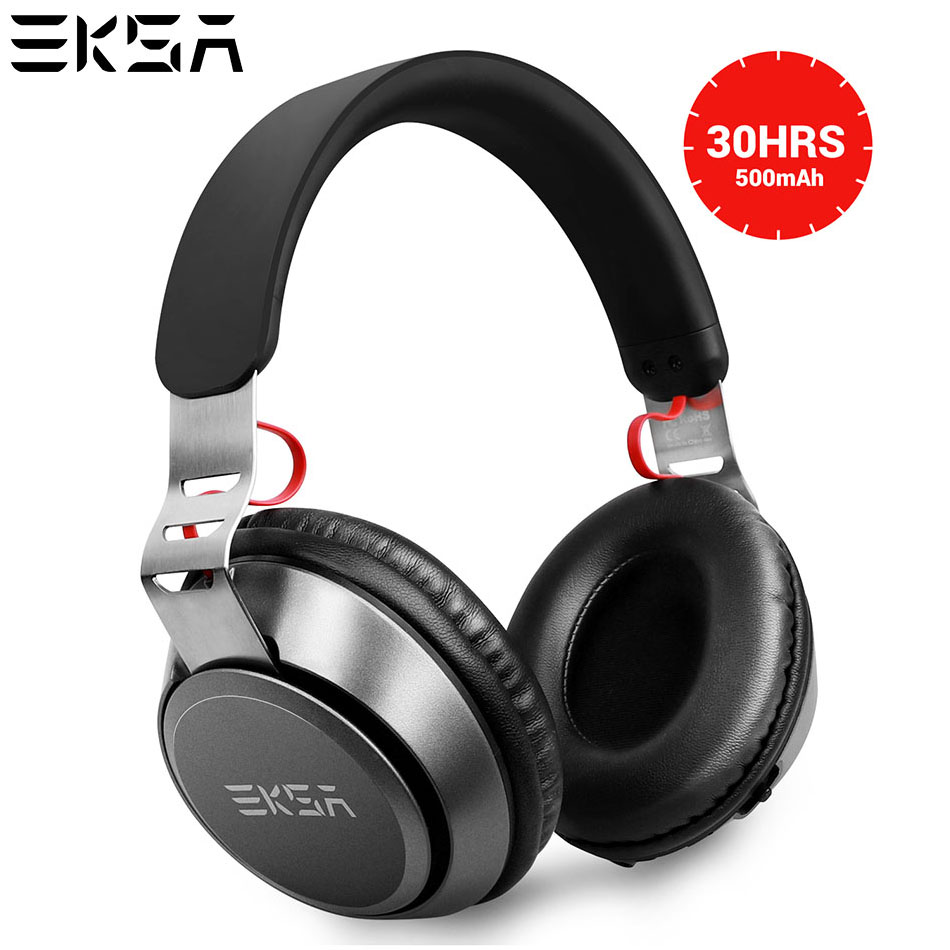 EKSA Portable Over Ear Wireless Headphones Bluetooth 4.2 Headphone Wired/Wireless 2 in 1 Handsfree Headset With Mic For Sports