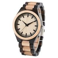 Presentes de luxo Homens Relógio de Bordo De Madeira Feitos À Mão Natureza Madeira Cheio de Quartzo Relógio de Pulso Relógios Masculinos Horas relogio de madeira de Bambu
